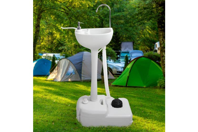 Weisshorn Camping Portable Sink Wash Basin Stand Food Event 19L Water Capacity