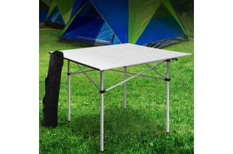 Weisshorn Roll Up Camping Table Folding Portable Picnic Garden Aluminum Desks