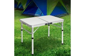 Weisshorn Folding Camping Table Portable Picnic Outdoor Garden BBQ Aluminum Desk