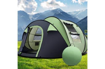 Weisshorn Instant Up 4-5 Person Camping Tent Family Hiking Beach Tents Swag