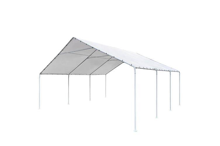 Dick Smith Carports 6m X6m Carport Kits Gazebo Canopy Tent Cover White Home Garden Yard Garden Outdoor Living Garden Structures Shade Sheds Summerhouses Carports