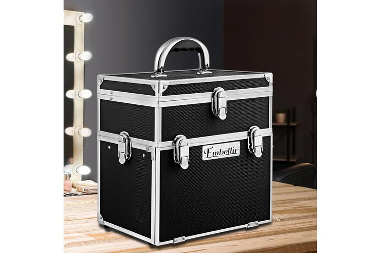 Embellir Professional Makeup Case Set Beauty Case Large Travel Portable Cosmetics Carry Box Organiser Drawers