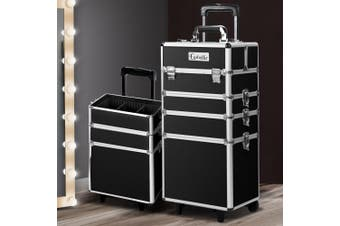 Embellir 7 In 1 Professional Large Makeup Trolley Case Travel Beauty Cosmetic Box