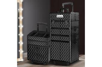 Embellir Professional Makeup Trolley Beauty Case With Drawers 7 In 1 Organiser Locks