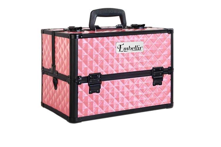 Embellir Portable Large Professional Beauty Box Case Makeup Artist Aluminum Box Travel Organiser
