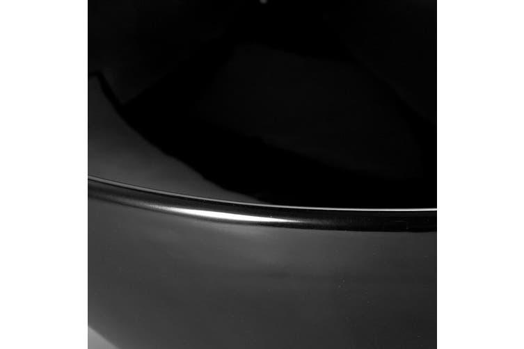 Cefito Ceramic Oval Sink Bathroom Above Counter Bowl - Black