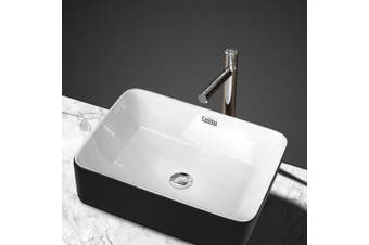 Cefito Ceramic Bathroom Basin Sink Vanity Above Counter Basins Bowl Black White