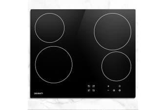 Devanti Ceramic Cooktop 60cm Glass 4 Zone Touch Control Electric Kitchen Burner