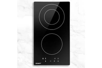 Devanti Electric Ceramic Cooktop 30cm Kitchen Cooker Cook Top Hob Touch Control 3-Zones