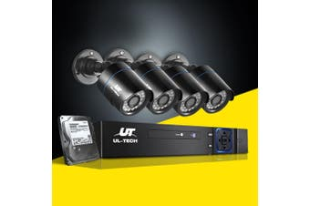UL-tech CCTV Camera Security System 1080P IP 4CH DVR Outdoor HD Night Vision 1TB