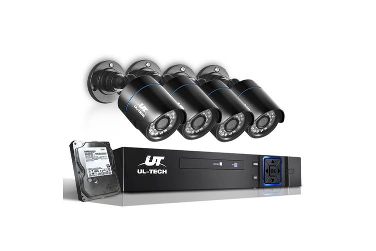 UL-tech CCTV Camera Security System 1080P IP 4CH DVR Outdoor HD Night Vision 1TB
