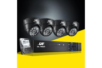 UL-tech CCTV Camera Security System 4CH DVR 1080P Day Night 2MP IP Cameras 1TB