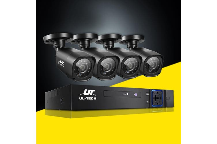 UL-tech CCTV 4 CH DVR 1080P Camera 1500TVL Outdoor IP Home Security System Kit