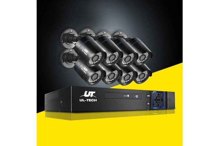 UL-tech CCTV Cameras Security Camera System 8CH DVR 1080P HD Set Outdoor IP