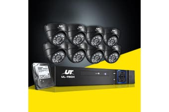 UL-tech CCTV Camera Security System 8CH DVR 1080P 1TB Outdoor IP Day night 2MP