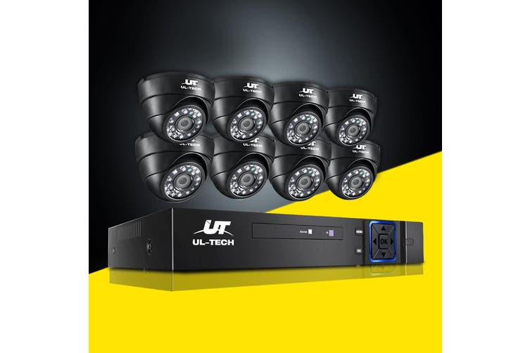 UL-tech CCTV Camera Security System 8CH DVR 1080P Outdoor IP Long Range 2MP HD