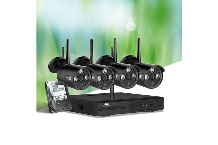 UL Tech CCTV Wireless Security System 2TB 4CH NVR 1080P 4 Camera Sets