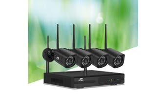 UL-TECH CCTV Wireless 4 Security Camera System Set Outdoor IP WIFI 1080P 8CH NVR