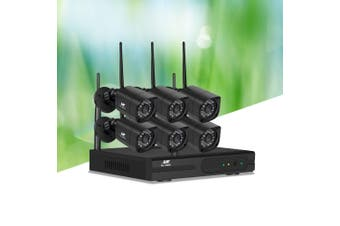 UL-tech CCTV Wireless 6 Security Camera System Kit Outdoor IP WIFI 1080P 8CH NVR