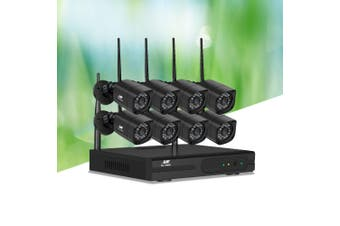 UL-TECH CCTV Wireless 8 Security Camera System Set Outdoor IP WIFI 1080P 8CH NVR