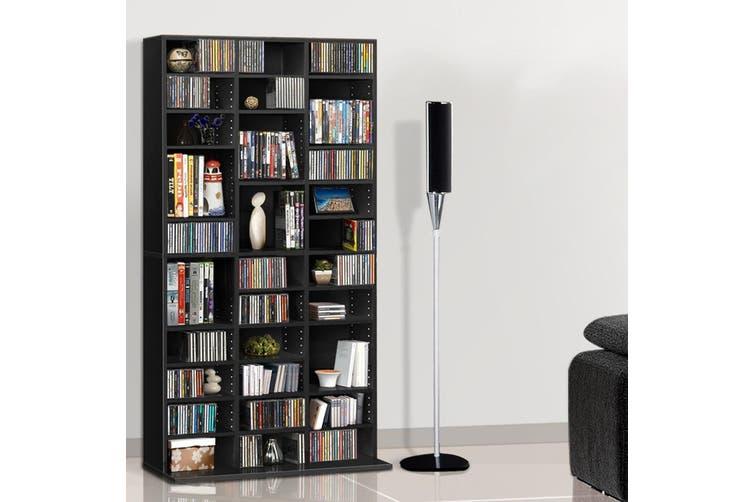 Artiss 528 DVD/1116 CD Storage Shelf Media Rack Stand Cupboard Book Unit Black