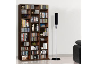 Artiss 528 DVD/1116 CD Storage Shelf Media Rack Stand Cupboard Book Unit Brown