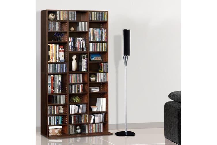 Artiss 528 DVD/1116 CD Storage Shelf Media Rack Stand Cupboard Book Unit Brown
