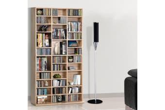 Artiss 528 DVD/1116 CD Storage Shelf Media Rack Stand Cupboard Book Unit Oak