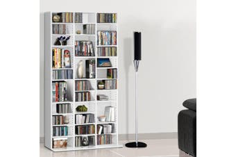 Artiss 528 DVD/1116 CD Storage Shelf Media Rack Stand Cupboard Book Unit White