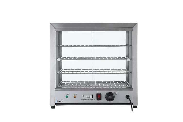 Devanti Commercial Food Warmer Pie Hot Display Showcase Cabinet Container