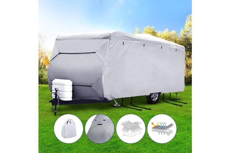 Weisshorn 16-18ft Caravan Cover Campervan 4 Layer Heavy Duty UV Carry bag Covers