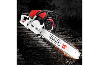 "Giantz Chainsaw Petrol 62cc Petrol Chainsaws Chain Saw 20"" inch inches E-Start Cover Included Tree Pruning Commercial Grade Top Handle"