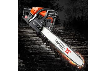 """Giantz Chainsaw Petrol 58cc Petrol Chainsaws Chain Saw 22"""" inch inches E-Start Cover Included Tree Pruning Commercial Grade Top Handle"""