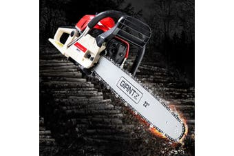 "Giantz Chainsaw Petrol 75cc Petrol Chainsaws Chain Saw 22"" inch inches E-Start Cover Included Tree Pruning Commercial Grade Top Handle"