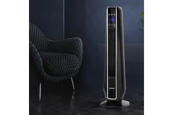 Devanti Ceramic Tower Heater Electric Portable Fan Heaters 2400W Oscillating Remote Control Black