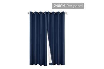 Art Queen 2X Blockout Eyelet Curtains Blackout Room Darkening 240X230CM Navy