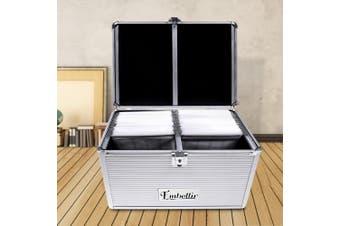 Embellir Aluminium CD Case Storage DVD Cases Bluray Box 240Discs Folder Holder