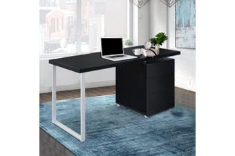 Artiss Office Computer Desk Study Table Home Metal Student Drawer Black
