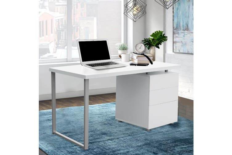 Artiss Office Computer Desk Study Table Home Metal Student Cabinet White