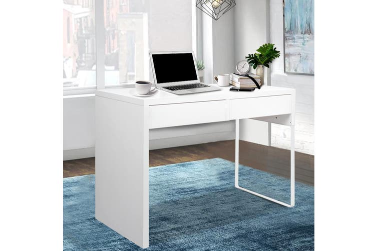Artiss Office Computer Desk Study Table Home Student Storage Drawers Laptop White