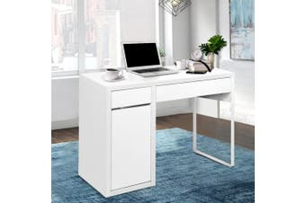 Artiss Office Computer Desk Study Table Home Metal Storage Cabinet White