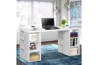 Artiss Office Computer Desk Study Table Workstation Shelf Storage Bookcase
