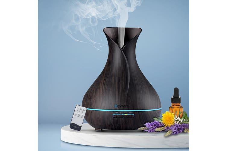 Devanti Ultrasonic Aroma Aromatherapy Diffuser Oils Air Humidifier Dark Wood