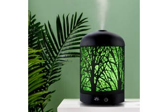 Devanti Ultrasonic Aroma Diffuser Aromatherapy LED Lights Iron Humidifier Forest