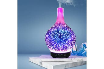 Devanti Ultrasonic Aroma Aromatherapy Diffuser 3D Light Oil Firework Humidifier