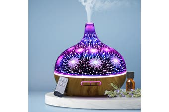 Devanti Ultrasonic Aroma Aromatherapy Diffuser Humidifier 3D LED Oil Firework