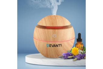 Devanti Aromatherapy Diffuser Aroma Essential Oils Air Humidifier LED Light