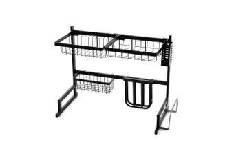 2-Tier 65cm Stainless Steel Kitchen Shelf Organizer Dish Drying Rack Over Sink