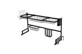 2-Tier 95cm Stainless Steel Kitchen Shelf Organizer Dish Drying Rack Over Sink