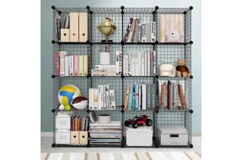 Artiss Wire Cube Storage Cabinet DIY 16 Cubes Display Shelves Shelf Bookcase Organiser